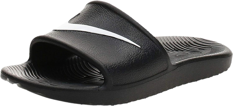 Nike Womens Kawa Sport Shower Slide Sandals Black/White (7)