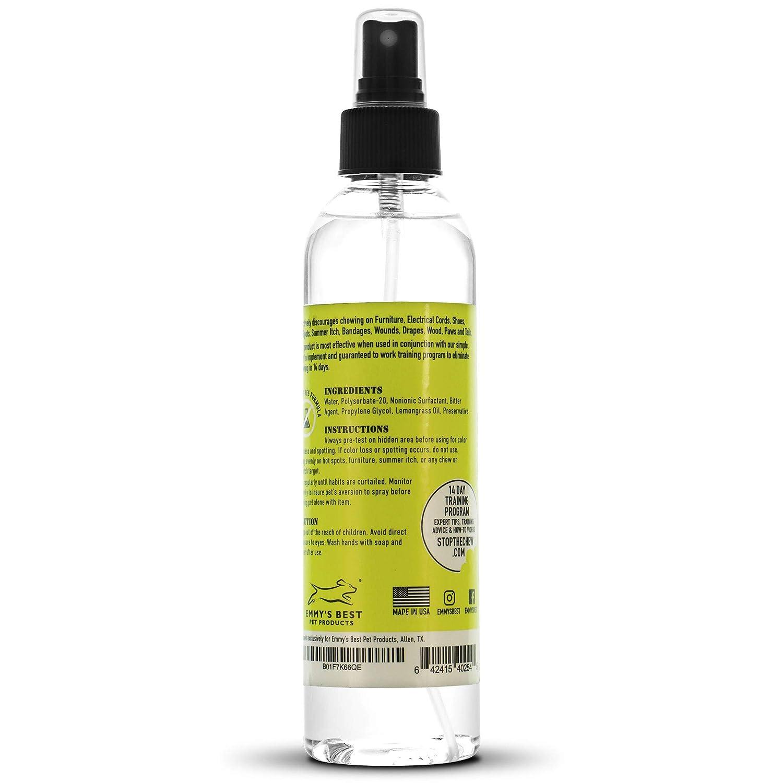 Spray Amargo Anti-Mordiscos para Perros y Cachorros - Sin Alcohol - El Spray Amargo Profesional Más Poderoso 237ml