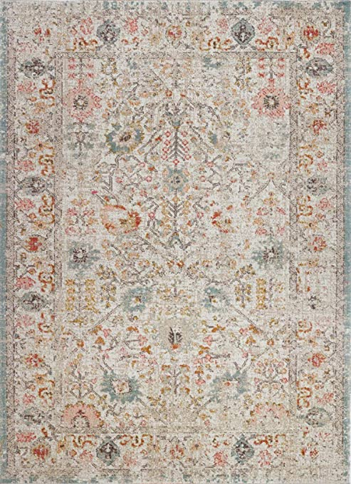 Ladole Rugs Tms13244 Timeless Collection Marigold Classic Durable Polypropylene Area Rug Carpet In Cream Beige 5 3 X 7 5 160cm X 230cm Amazon Ca Home Kitchen