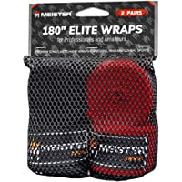 "Meister Elite 180"" Premium Adult Hand Wraps for MMA & Boxing - 2 Pair Pack w/Mesh Bag"