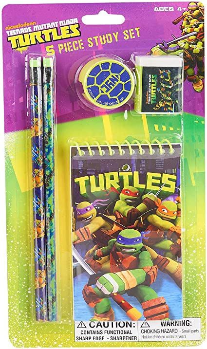 Amazon.com: Teenage Mutant Ninja Turtles 5 piezas estudio ...