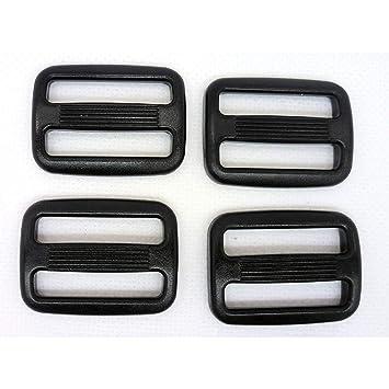 25 hebillas de plástico negro ajustables con 3 barras para mochila, bolsas tácticas 38 mm negro: Amazon.es: Hogar