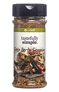 Tastefully Simple Fiesta Party Mexican Seasoning, No MSG, Great For Tacos, Fajitas and Dips - 5.5 oz