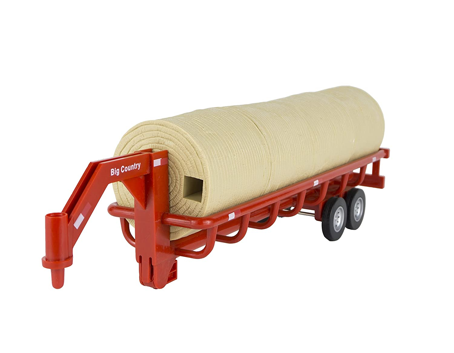 Big Country Toys Hay Trailer - 1:20 Scale - Farm Toys & Ranch Toys - Hay Baling Toys - Toy Hay Bales