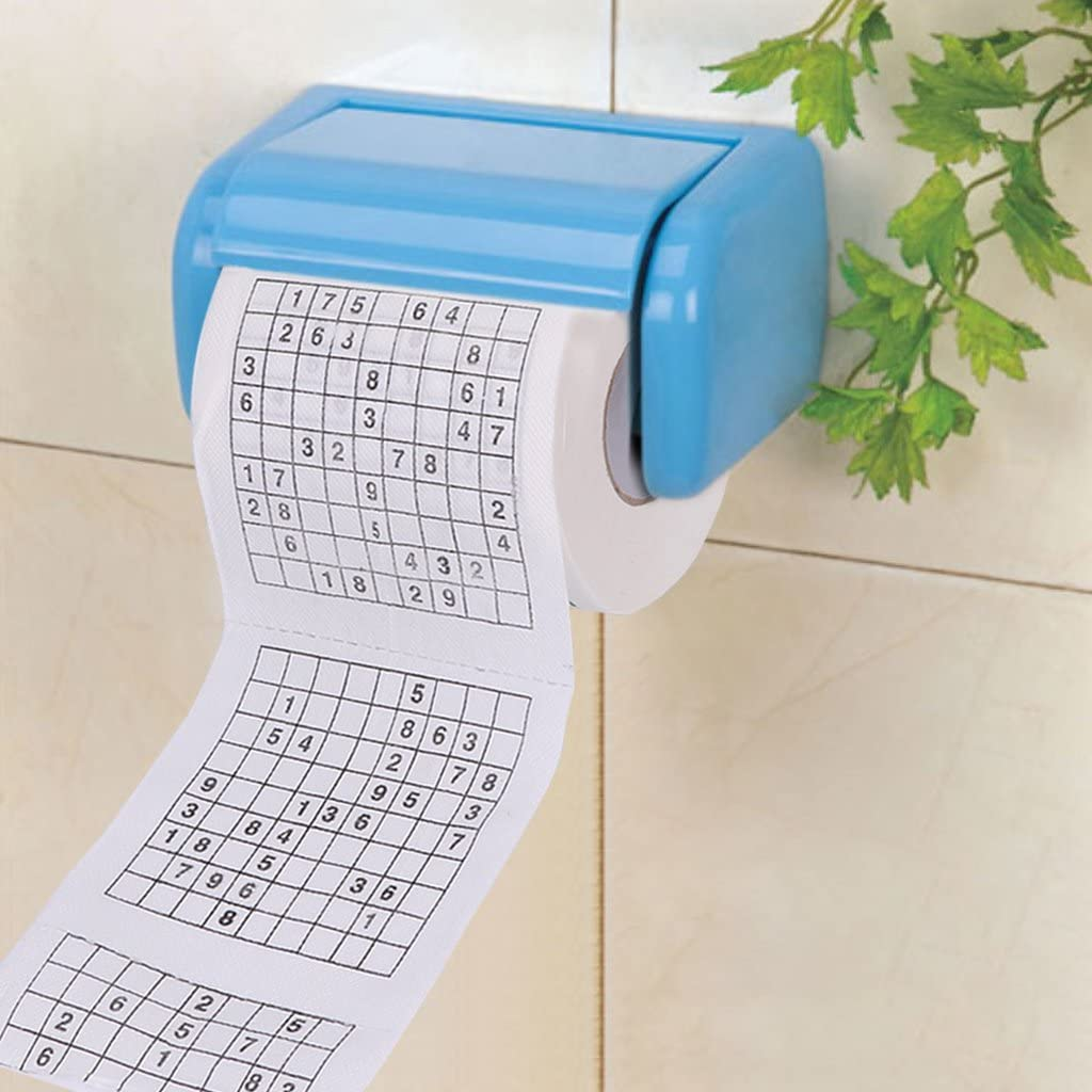 Sudoku Su Printed Toilet Tissue Paper Rolls Paper Funny Puzzle Game Thickened WC Paper Hollow Replacement Flushable Durable