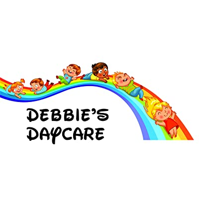 """Childrens Wall Decal - Custom Daycare Welcome Sign - Personalized Name Vinyl Lettering (Large, 20""""x40""""): Baby"""