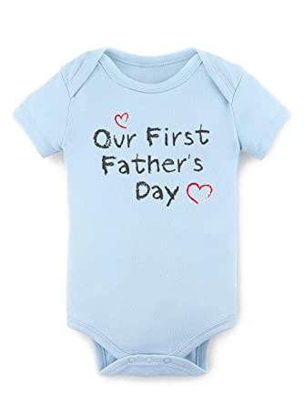 f24f473bc Image Unavailable. Image not available for. Color: 1st Fathers Day Bodysuit  for Baby Father's Day Onesies Happy Blue
