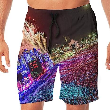 Mens Shorts Pockets Swim Beach Trunk Summer Carnival Athletic