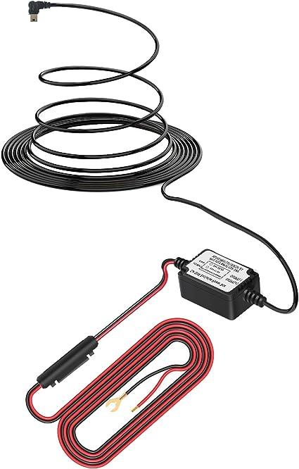 Dash Cam Hardwire Kit with Mini USB Pefect for Car DVR Camera Recorder Left Angle Mini USB