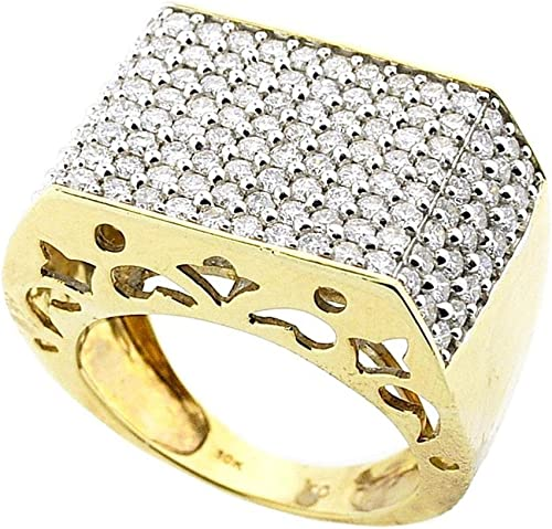 Midwest Jewellery Mens Ring 3 00ctw Diamond Extra Large Size Pinky