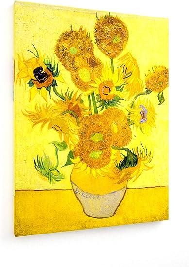 Weewado Vincent Van Gogh Tournesols Arles 1888 30x40 Cm Impression Sur Toile Art Mural Tableau Poster Affiche Decoration D Interieur Vieux Maitres Musee Amazon Fr Cuisine Maison