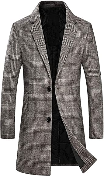 MOUTEN Mens Winter Relaxed Fit Contrast Zip Front Thicken Down Quilted Coat Jacket Overcoat