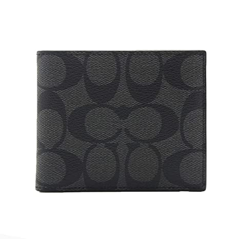 Coach - Cartera para mujer Gris -Noir medium: Amazon.es ...