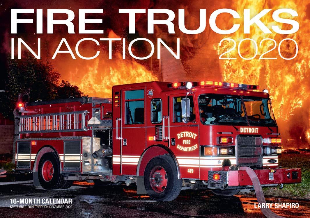 Calendar September 2020 - December 2020 Fire Trucks in Action 2020: 16 Month Calendar Includes September
