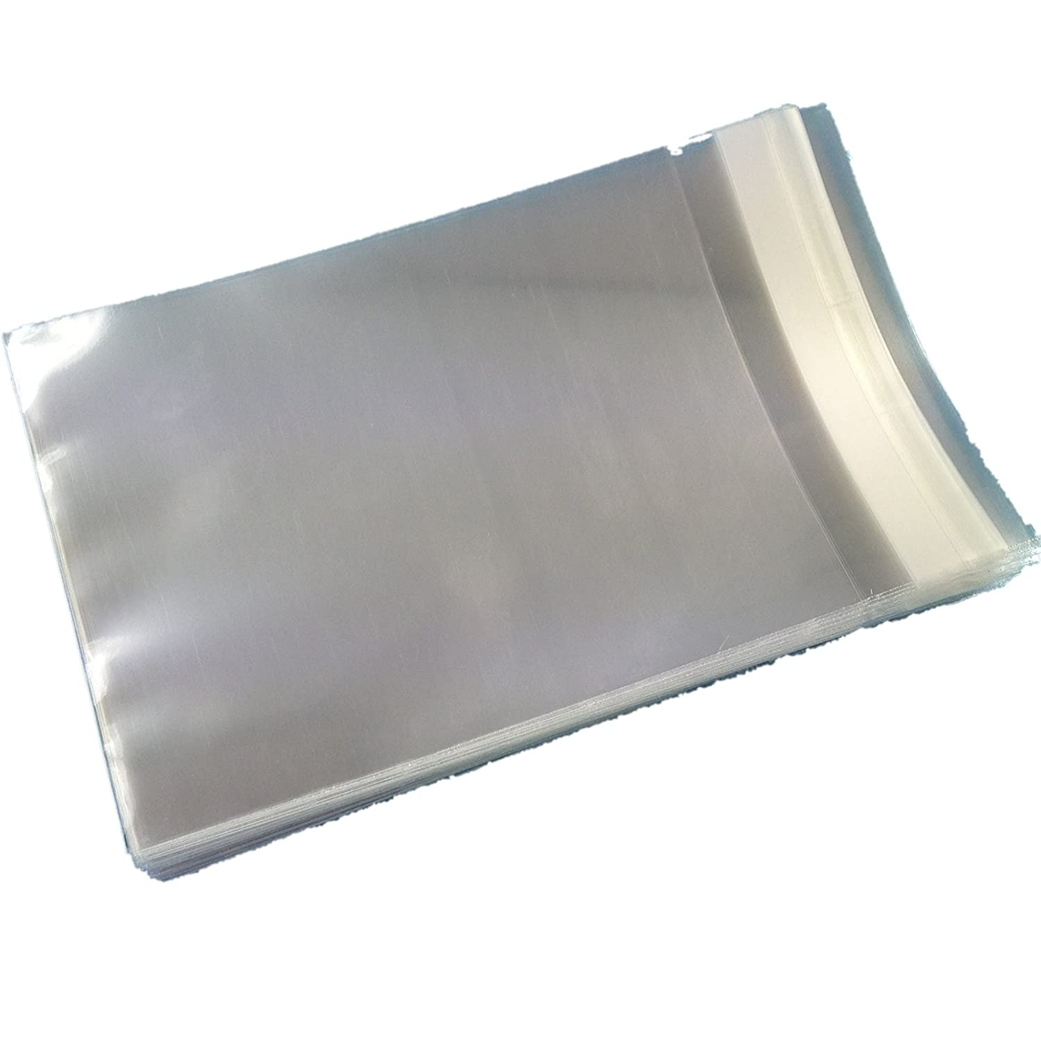 Packed by the CandyRushTM Charity 87x113mm Clear Cello Cellophane Bags for Greeting Cards Sticky Seal Plastic Display Bag For Cards Crafts Display 250 C7