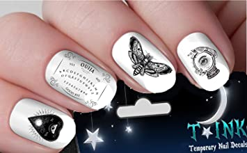 Amazon halloween nail decals occult ouija board gothic nail halloween nail decals occult ouija board gothic nail art design set assorted ti1 publicscrutiny Choice Image