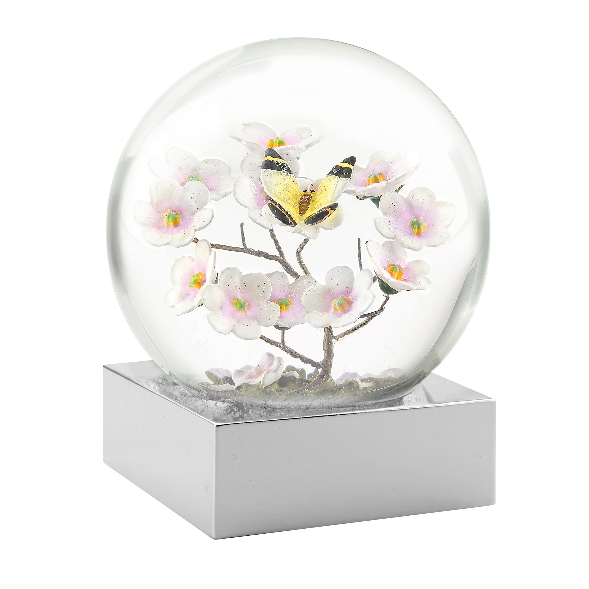 CoolSnowGlobes Butterfly on Branch Cool Snow Globe by CoolSnowGlobes