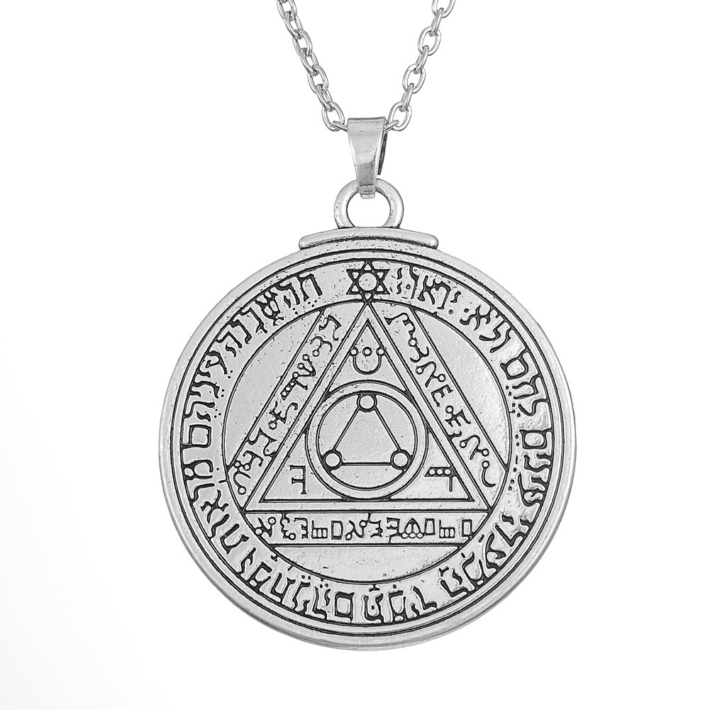 Fishhook Wicca Sixth Sun Pentacle Key of Solomon for Invisibility Talisman Pendant Neckalce GeXiang