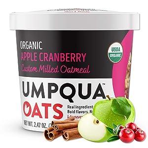 Umpqua Oats | Organic Oatmeal | All Natural, Premium Oat Cups | No Mush, Custom Milled | Non-GMO (8 count) (Organic Apple Cranberry)