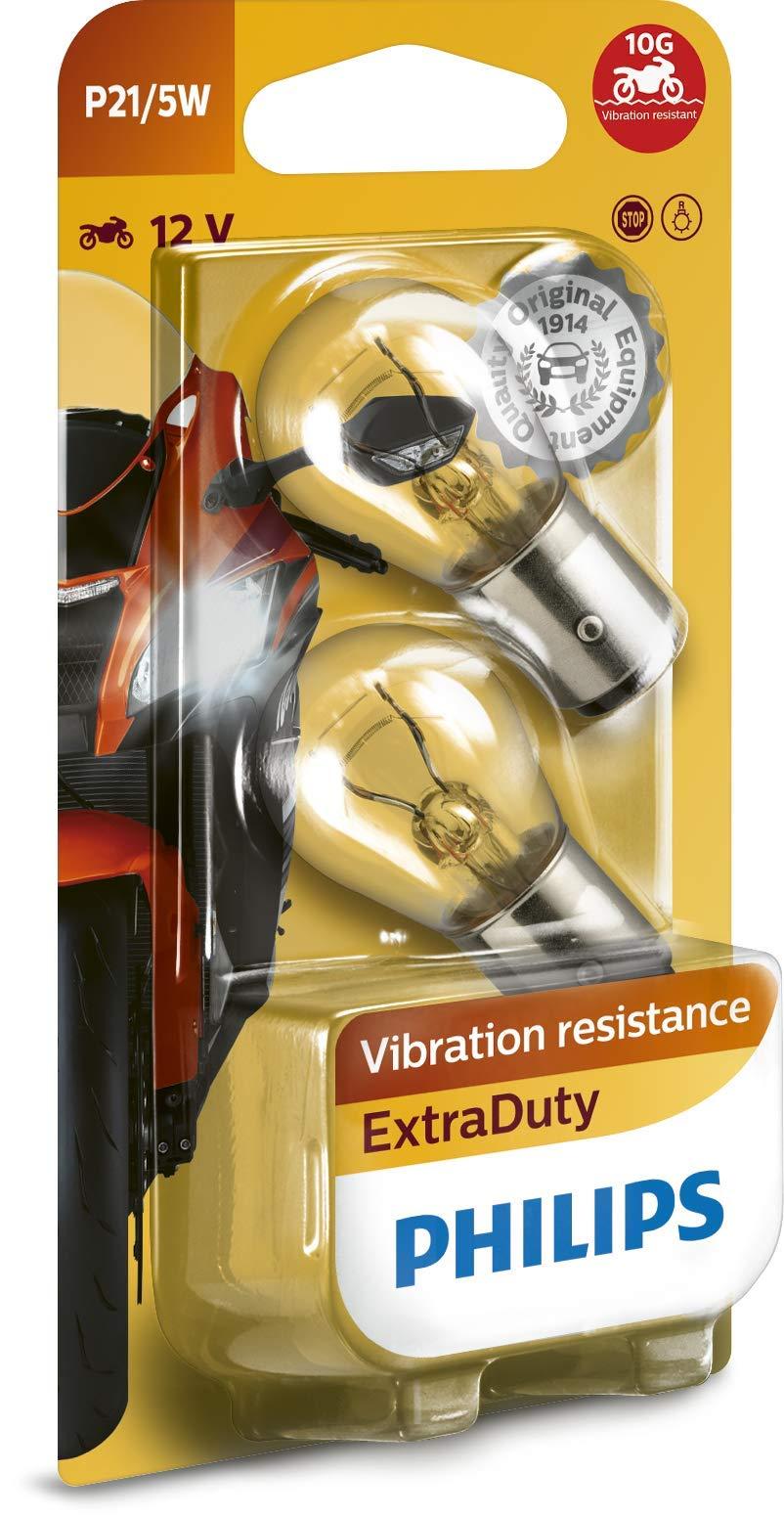 Philips 12499EDBW ExtraDuty - Bombilla de señalización para motocicleta (P21/5W, 1 unidad