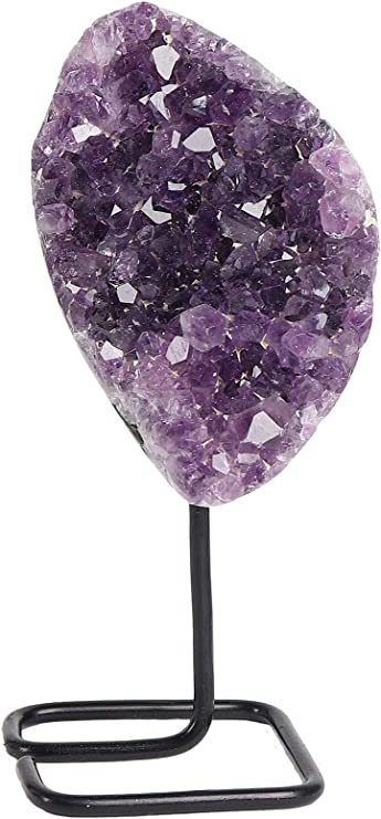 Deep Purple Ceramic Beads Accented by Purple Crystals