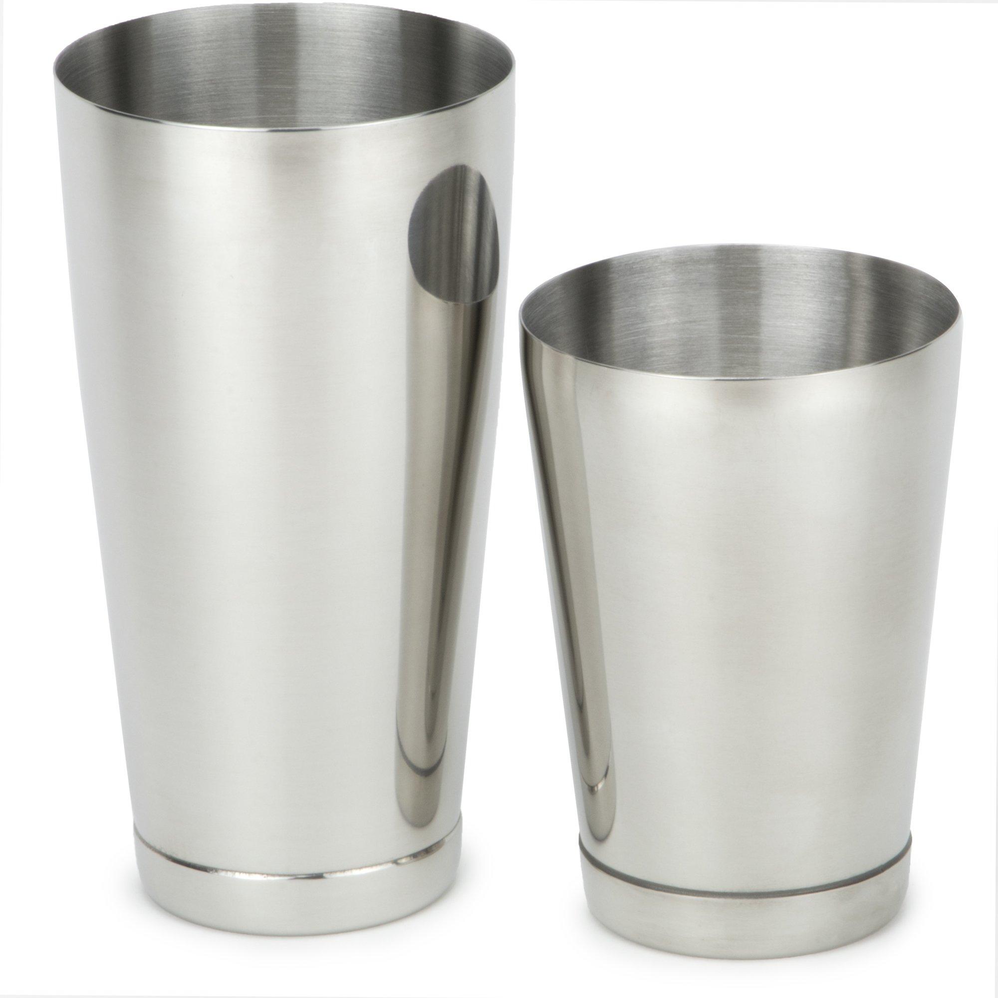 Boston Shakers - Set of 2 Premium Grade Stainless Steel Professional Bartending Shaker Set by Cocktailor