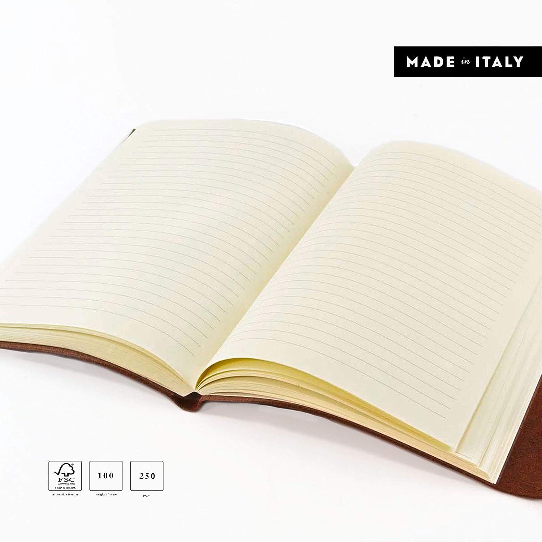 Tivoli Tivoli Tivoli A5 mittelgroßes Notizbuch aus recyceltem Leder, Handgearbeitet in klassischem Italienischem Stil, Geschenkschachtel inklusive, Tagebuch A5, Lederbuch (15x21 cm) Braun B00PSQC1M6 | Elegante Form  | Helle Farben  | Verkauf  8428e3
