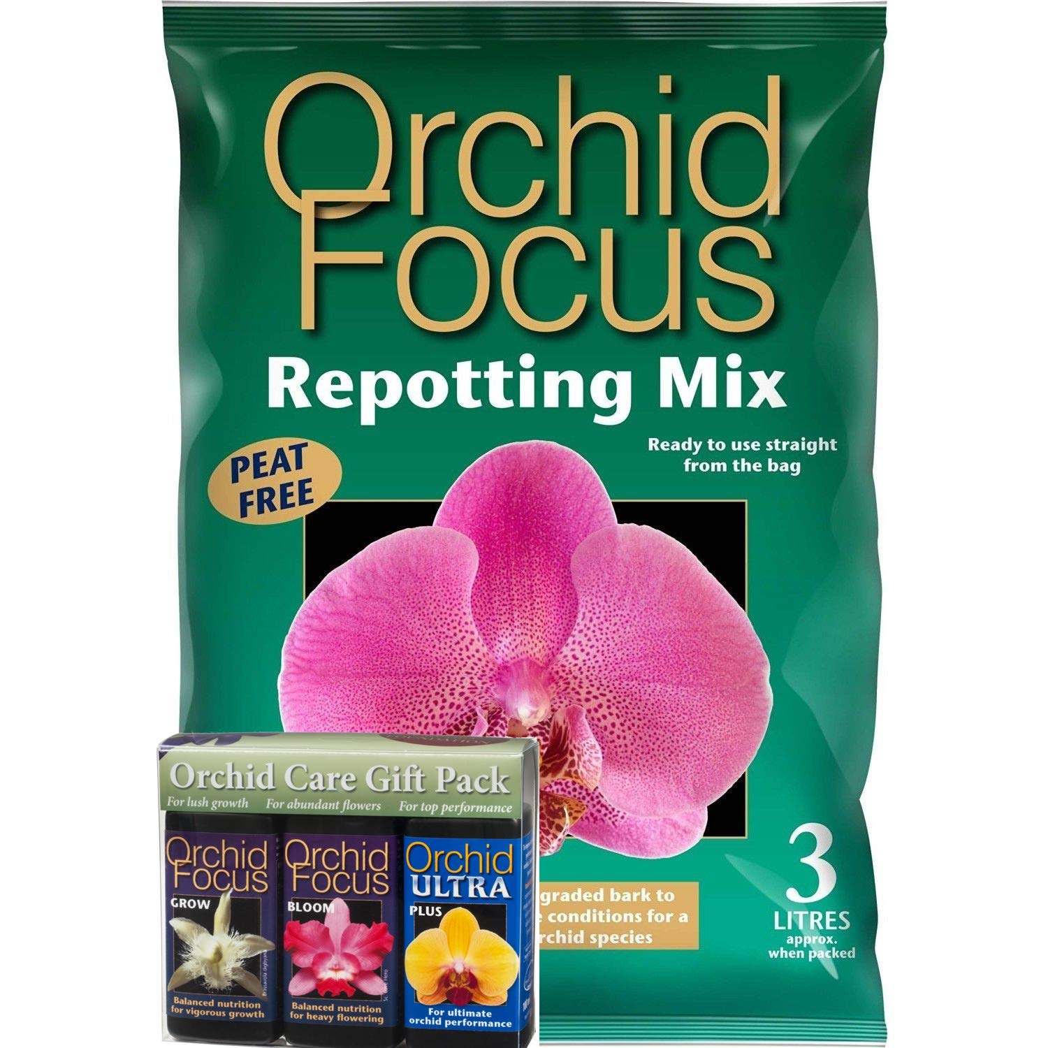 Orchid Care Gift Box Orchid Grow Bloom And Plus 100ml And 3l
