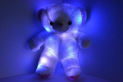 Amazon.com: Osito de luz LED arriba Glow Pillow Pet ...