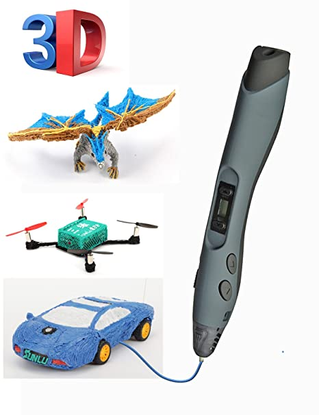 SUNLU Pluma 3D inteligente Actualización de impresión 3D Pluma Diy Regalo Compatible con PLA ABS PCL