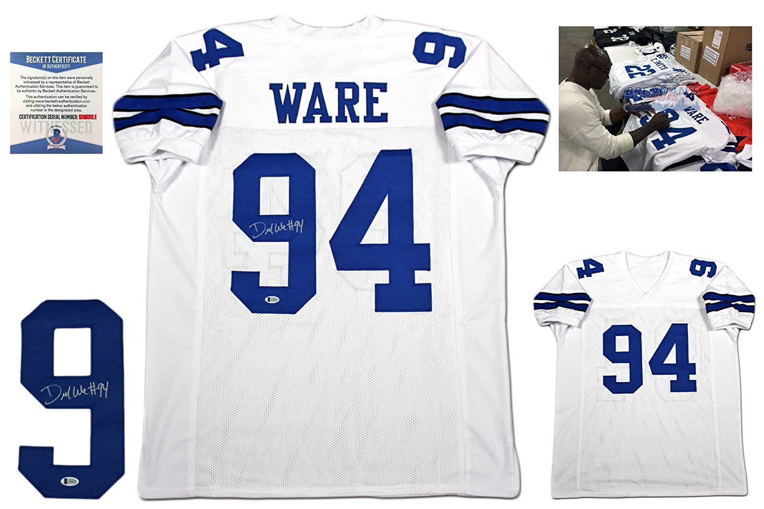 new concept 42ab5 b563c Demarcus Ware Autographed Signed Jersey - Beckett Authentic ...