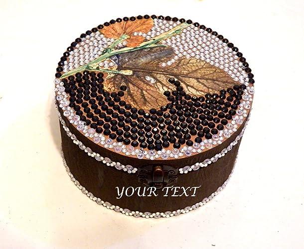 Caja de la boda, Joyero personalizado, Caja grabada, Joyero de madera, Caja