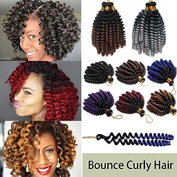 6 Inch Jamaican Bounce Hair Short Curly Crochet Braids Hair Extension Jumpy Wand Curly Crochet Hair Jamaican Bounce Synthetic Braids Twist Hair For