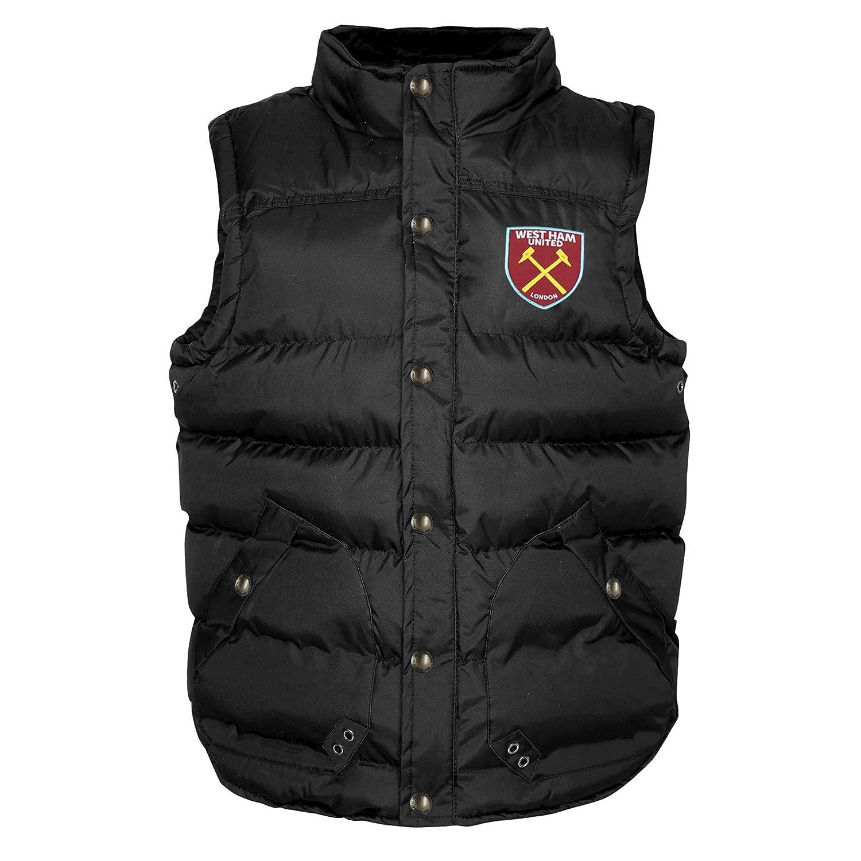 West Ham United FC Official Football Gift Boys Padded Body Warmer Jacket Gilet
