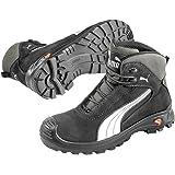 Puma Safety Shoes Cascades Mid S3 HRO SRC, Puma 630210-202 Unisex-Erwachsene Sicherheitsschuhe, Schwarz (schwarz/weiß 202), EU 45