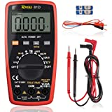 RAGU 81D Auto Ranging Digital Multimeter, 4000 Count AC/DC Voltage/Current Resistance Temperature Diode Continuity Tool, Electronic Test Meter/Measuring Instrument
