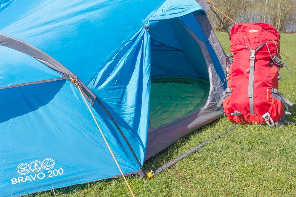 Vango Bravo 200 Active Adventure Tunnel Tent for 2 Person - Blue Amazon.co.uk Sports u0026 Outdoors & Vango Bravo 200 Active Adventure Tunnel Tent for 2 Person - Blue ...
