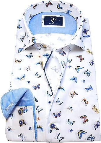 R2 Westbrook Camisa Casual - Camisa de Manga Larga - Cutaway ...