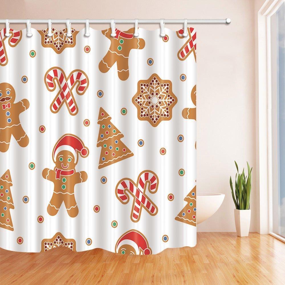 Decoración de Navidad cortina de ducha por gohebe Navidad Seamless ...