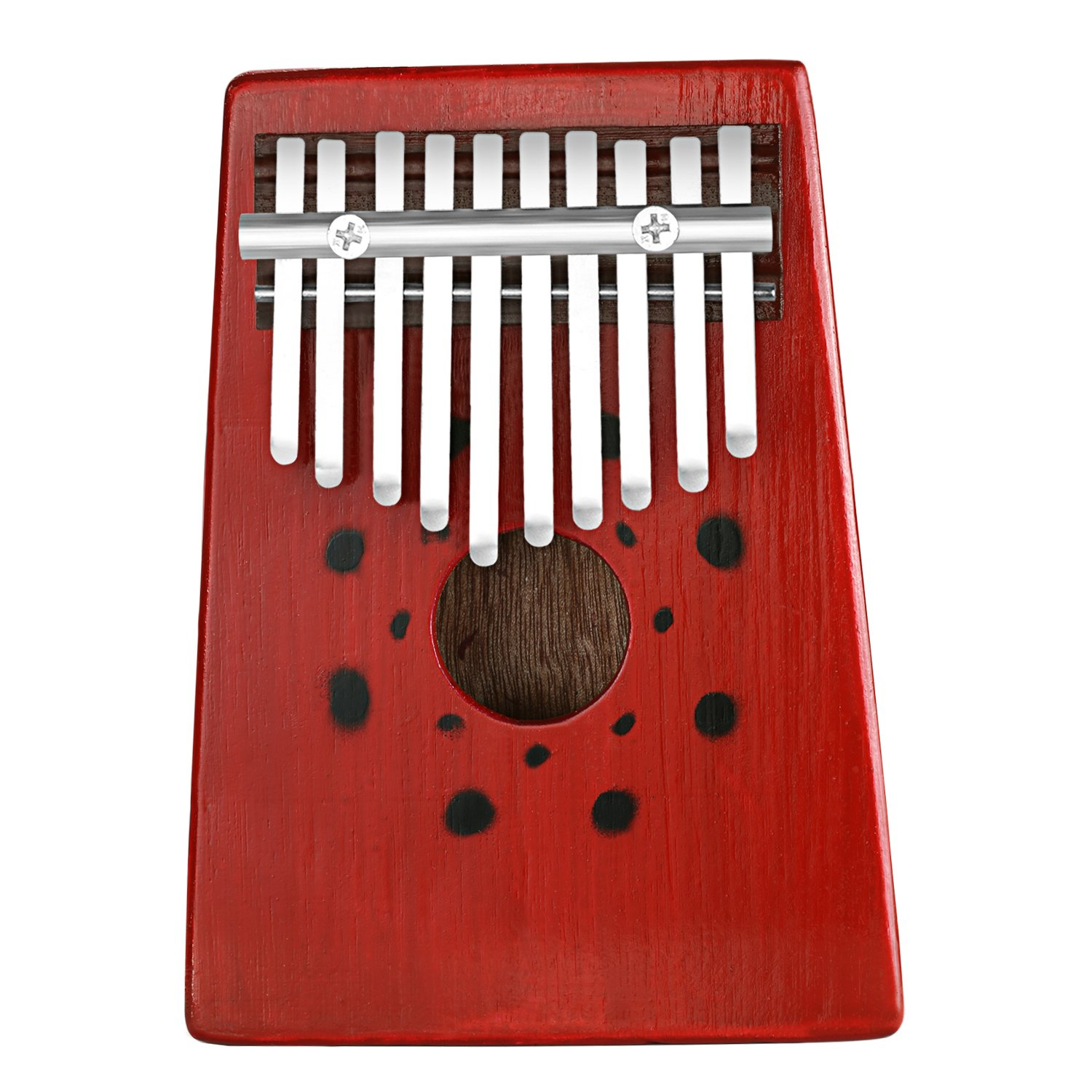 Neewer 10 Keys Birch Finger Thumb Piano Mbira, Portable 17x12.8x2.9 centimeters/6.7x 5.0x1.1 inches, Education Toy Musical Instrument for Music Lover (Red) 40089020