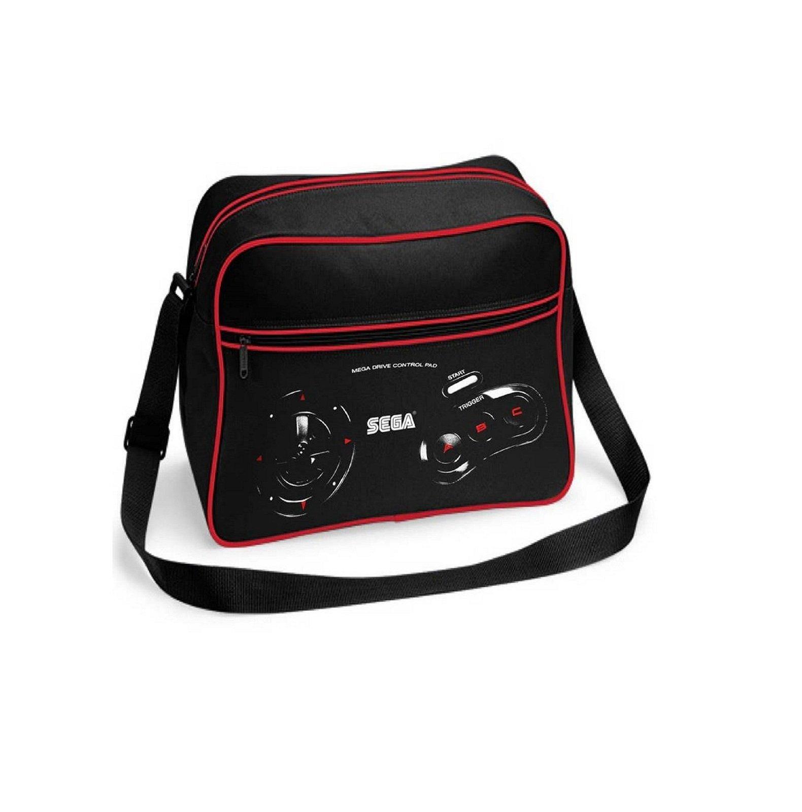 Sega Megadrive Controller Official Retro Black Shoulder Bag