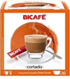 (BICAFE Cortado Capsules Compatible with Dolce Gusto Machhines - 16 Capsules (cup