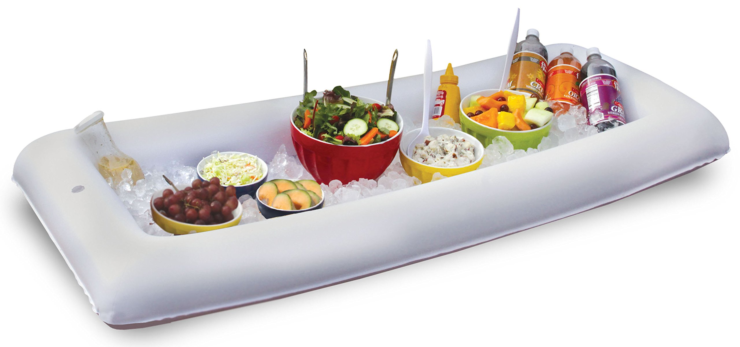 BW Brands Inflatabuffet Portable/Inflatable Buffet and Salad Bar, White