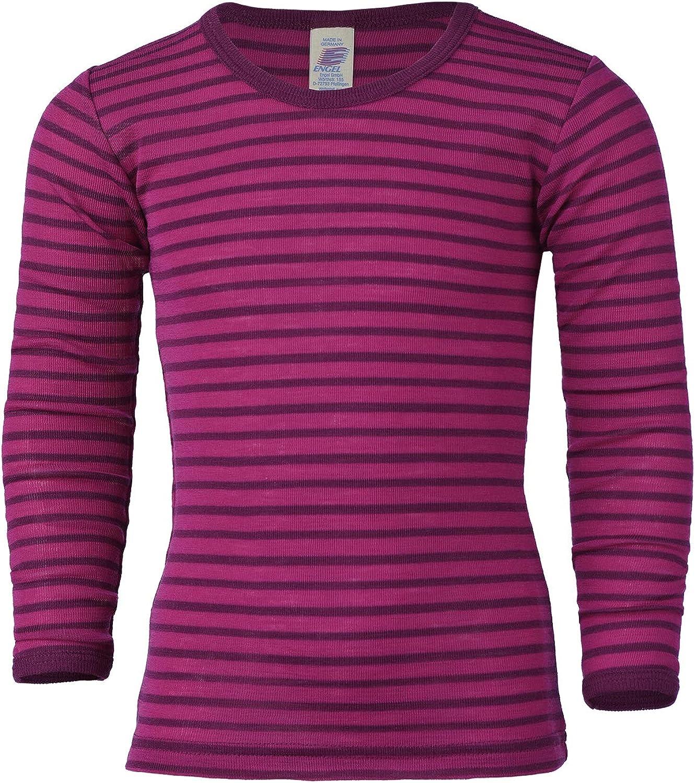Engel Camiseta de manga larga para ni/ños lana y seda