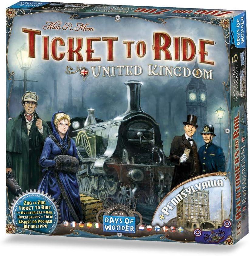 #Juegodemesa ¡Aventureros al Tren! Reino Unido y Pennsylvania por 27,80€