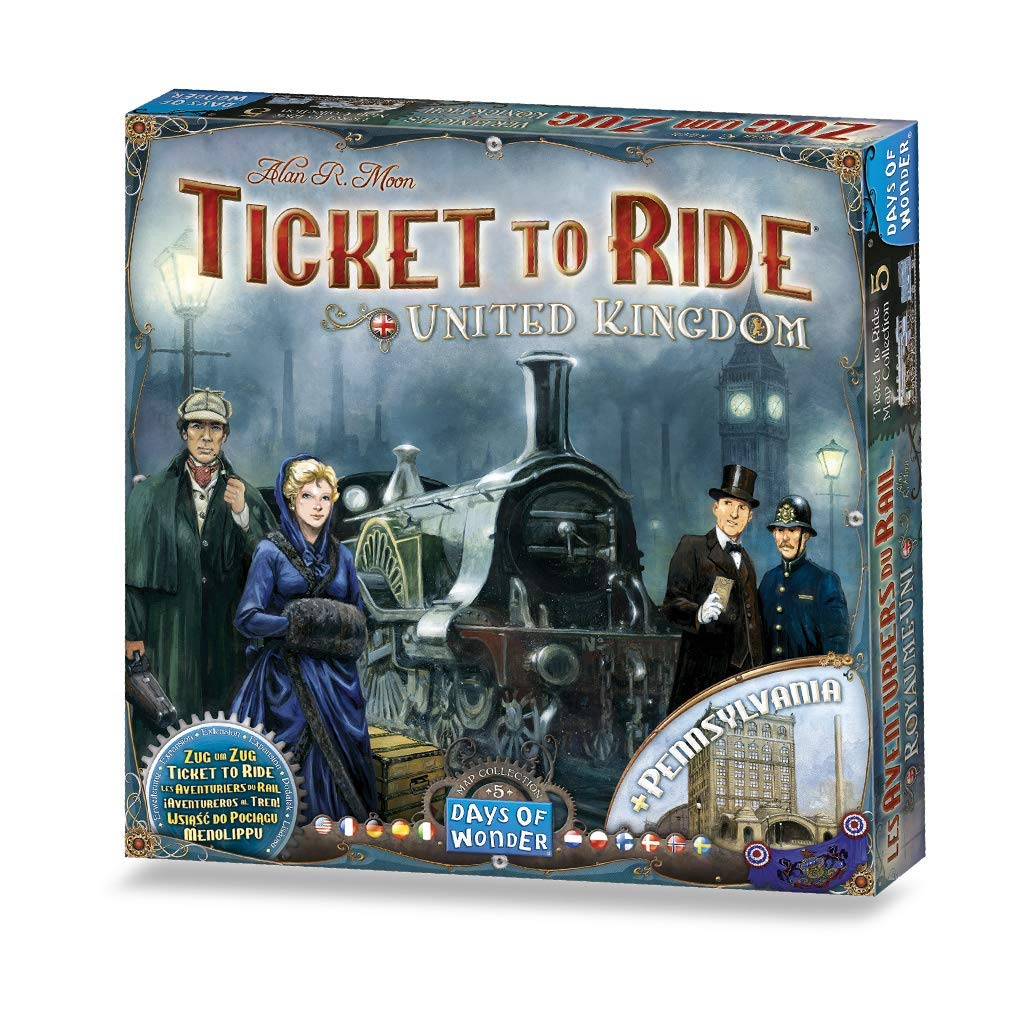 Days of Wonder Ticket to Ride: United Kingdom Map Collection Five Multi Standard