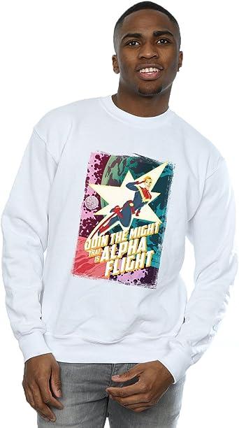 Marvel Hombre Captain Marvel Alpha Flight Camisa De Entrenamiento: Amazon.es: Ropa y accesorios