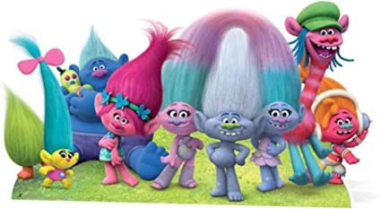 Star Cutouts Trolls Group Cardboard Cutout Standup Movie Themed Life Size Stand In 32 X 59 Everything Else Amazon Com