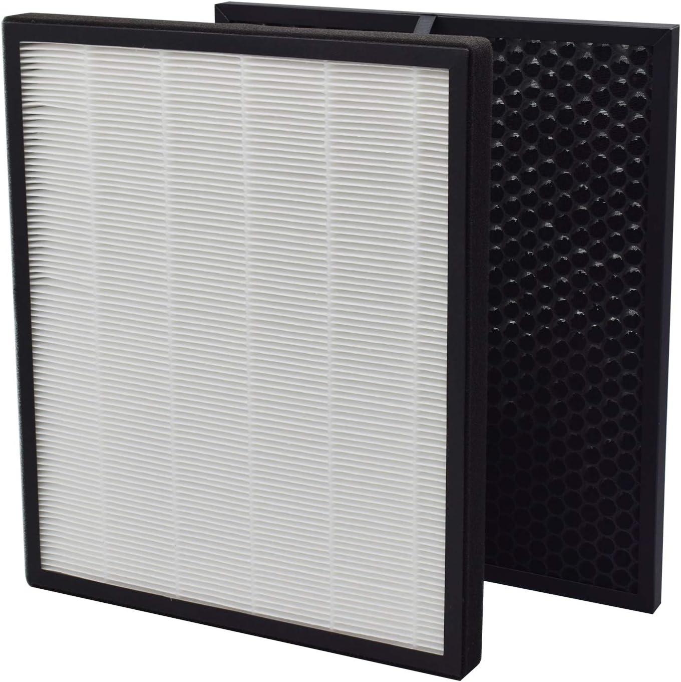 GHM Compatible LEVOIT LV-PUR-131 Air Purifier True HEPA & Activated Carbon Filters Set Compatible with LEVOIT LV-PUR-131 Air Purifier