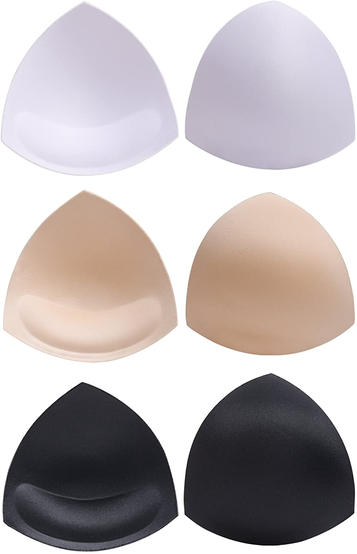Push-up Kissen Bikini Bra Pads herausnehmbaren Sport 3paar dreiecke BH Einlagen